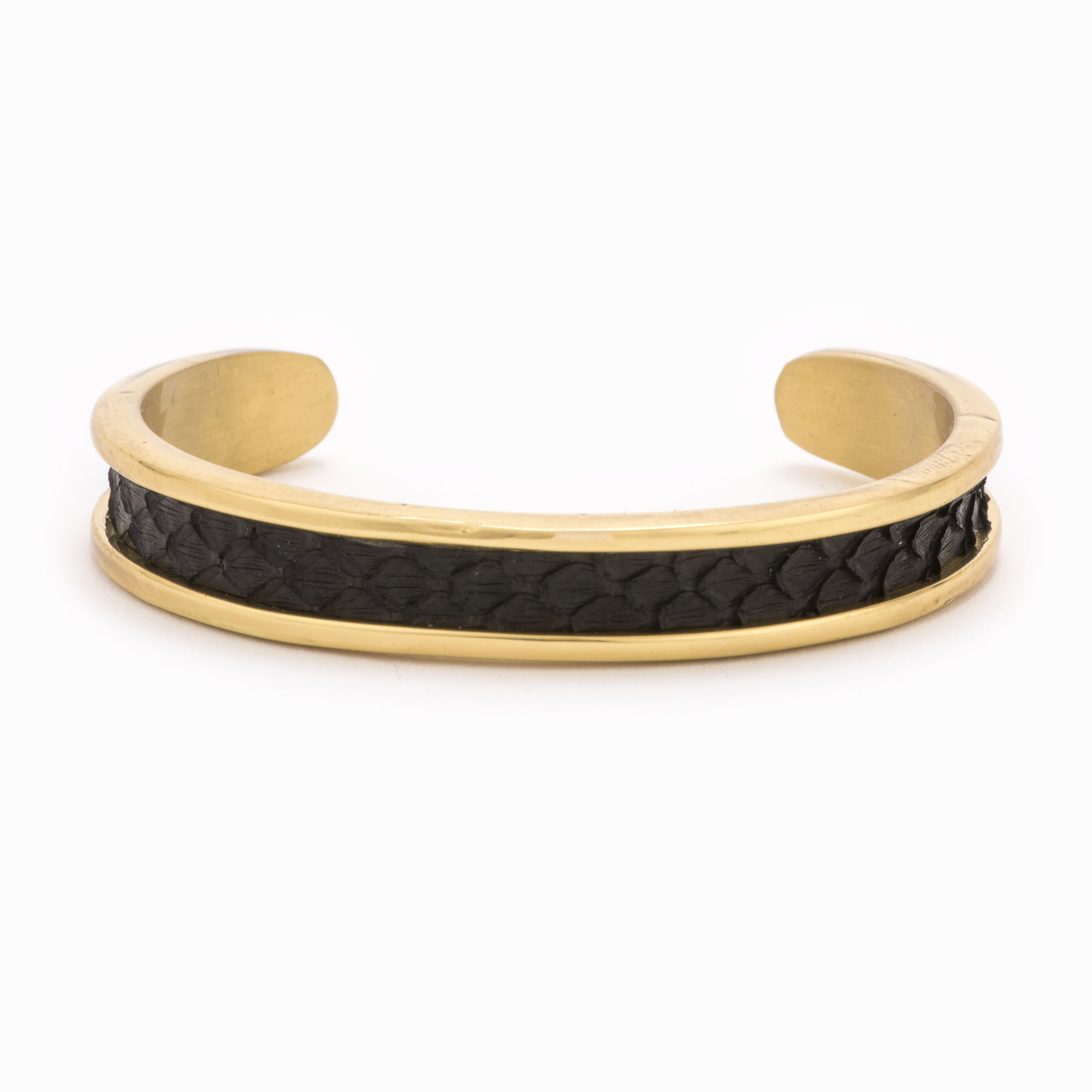 Small Black Gold Cuff